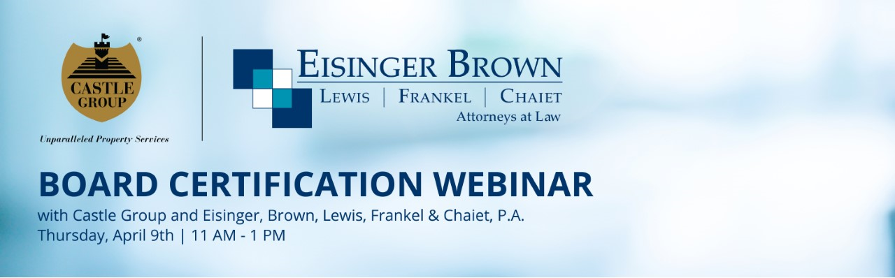 Board Cert webinar on April 9, 2020